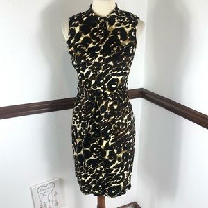 Calvin Klein sleeveless cheetah print dress size 6